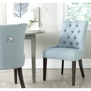 Safavieh En Vogue Dining Harlow Light Blue Ring Chair (Set of 2 ...