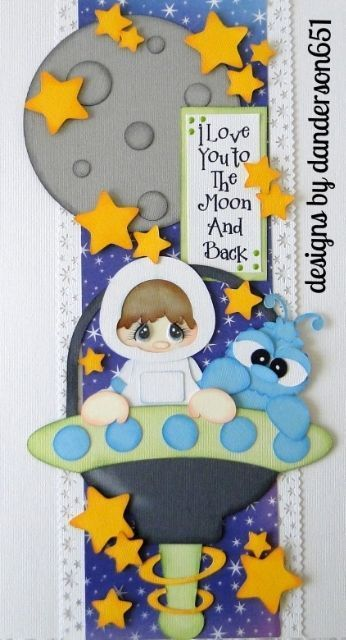 Love You To the Moon and Back...Newly listed on ebay...DT Deb