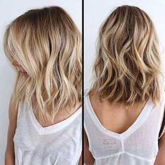 Frisuren blond und mittellang