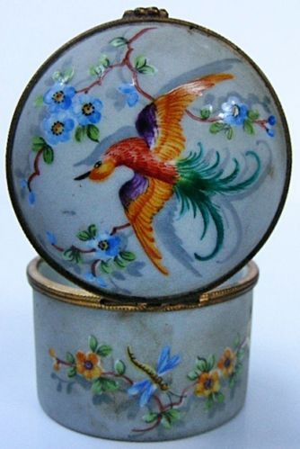 Absolutely Stunning Hand Painted Atelier Le Tallec Paris Porcelain Trinket Box