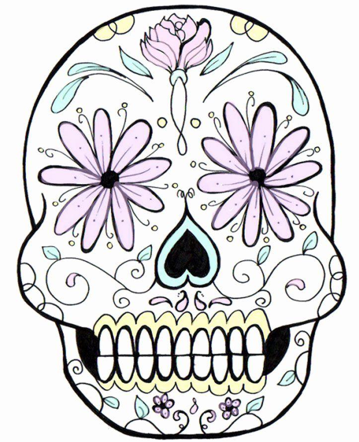 Blank Sugar Skull Template Inspirational Free Skulls