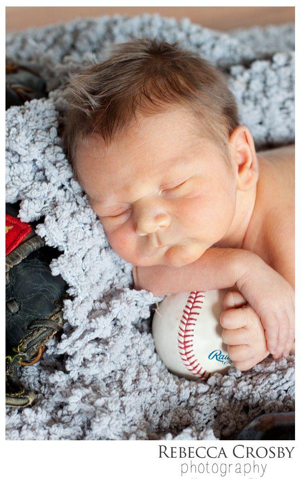 Rebecca crosby photography blog baby boy newborn photo ideas baseball