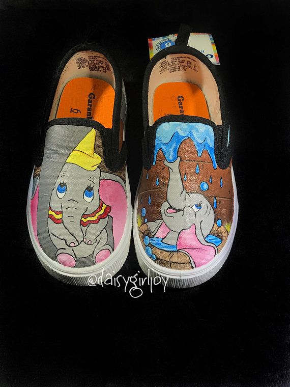 e56b4acc2a451d Custom hand painted Disney Pixar Dumbo Toddler Children s shoes ...