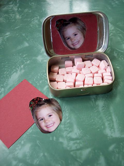 Child crafted stocking stuffers - personalized mint tins