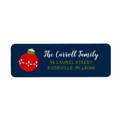 holiday whimsy personalized return address labels in 2018