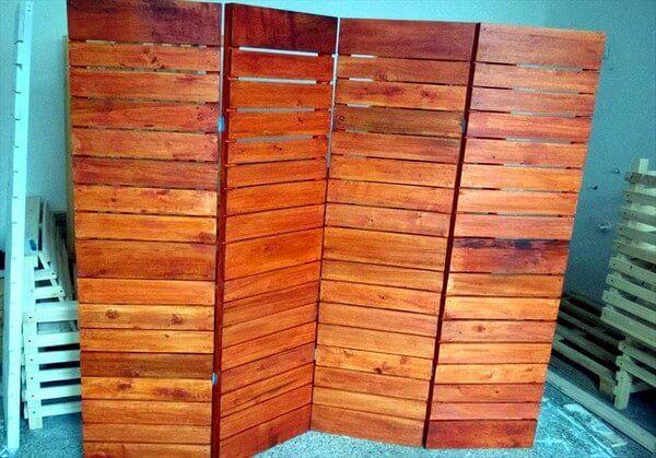 How to Make Wooden Pallet Room Divider | Pallet room, Room ...