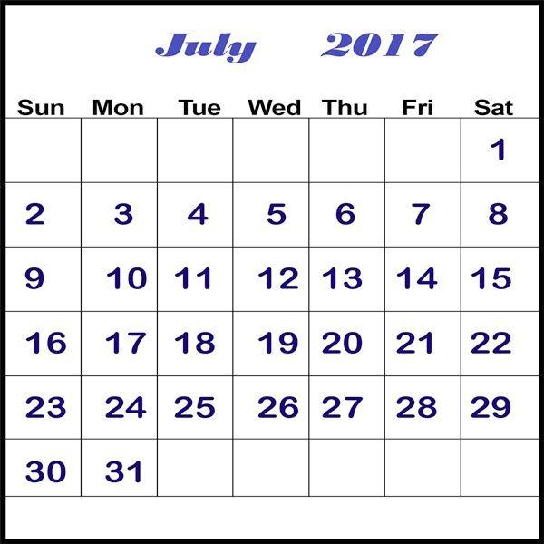 Printable Calendar July 2017   hightidefestivalorg/printable - printable calendars