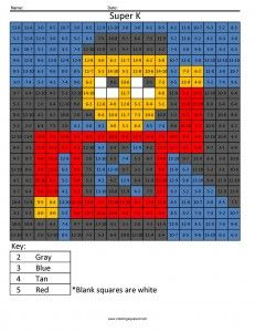 Free Coloring Pages- Pixel art coloring book- Math for Kids | Pinterest