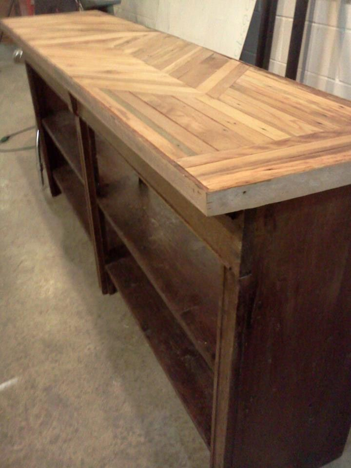 Advanced Woodworking Salvaged Buffet Table Image Courtesy
