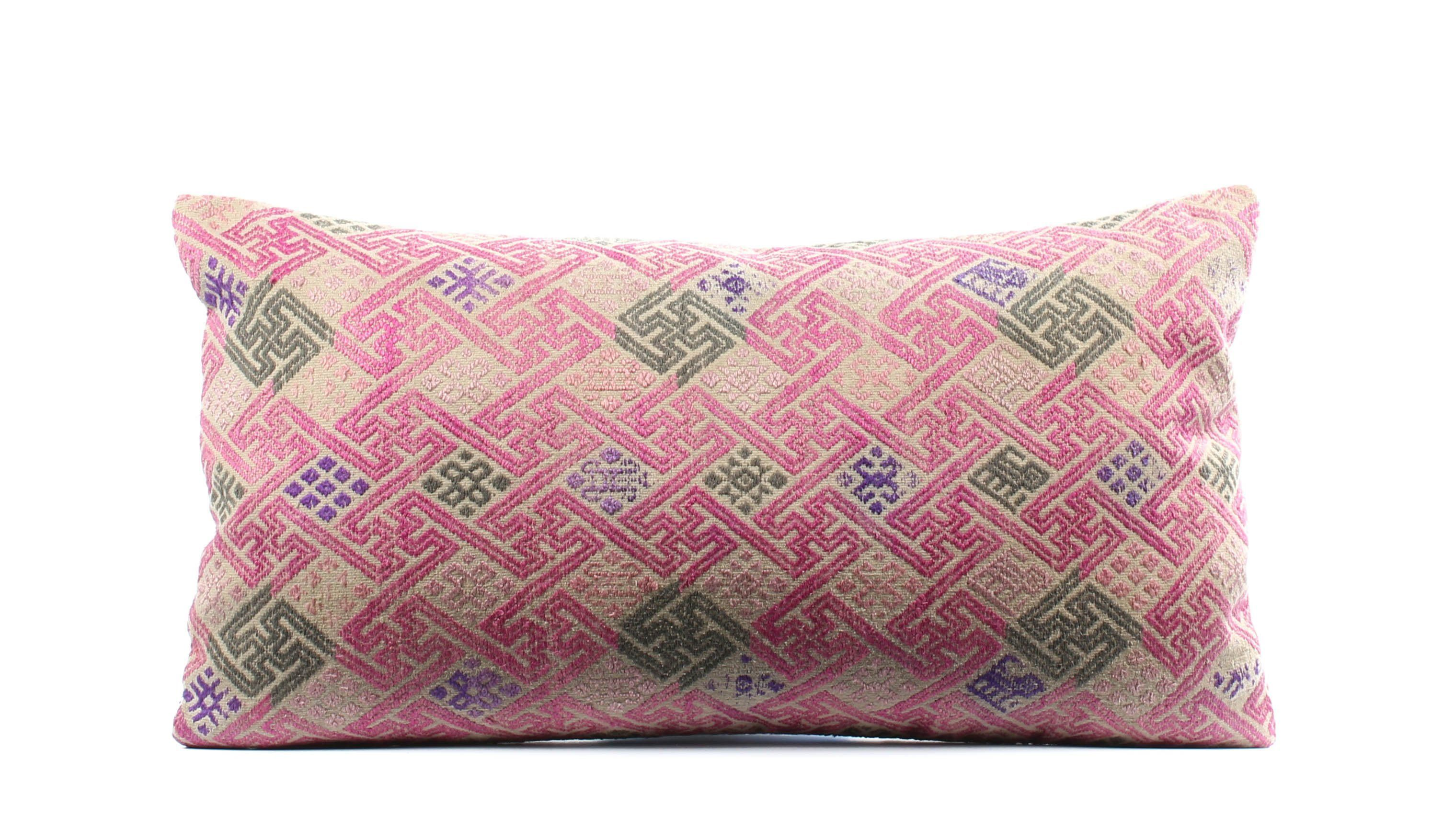 Chinese wedding blanket pillow cover boho pillow vintage