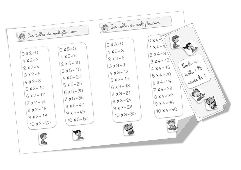 Tables De Multiplication Ce1