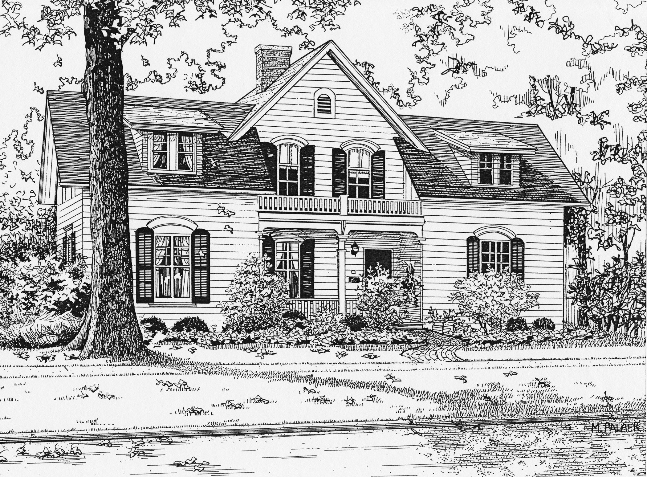нарисовать двухэтажный дом картинки всем этом
