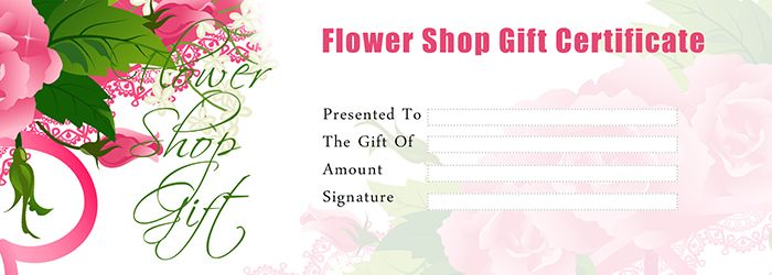 Flower shop gift certificate template free gift certificate flower shop gift certificate template free gift certificate template free gift certificate template negle Image collections