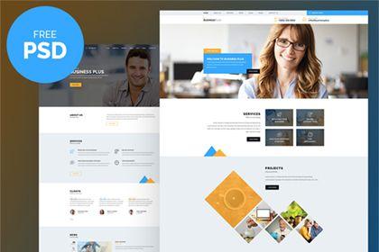 Business plus free psd template pinterest psd templates business plus free psd template friedricerecipe Gallery