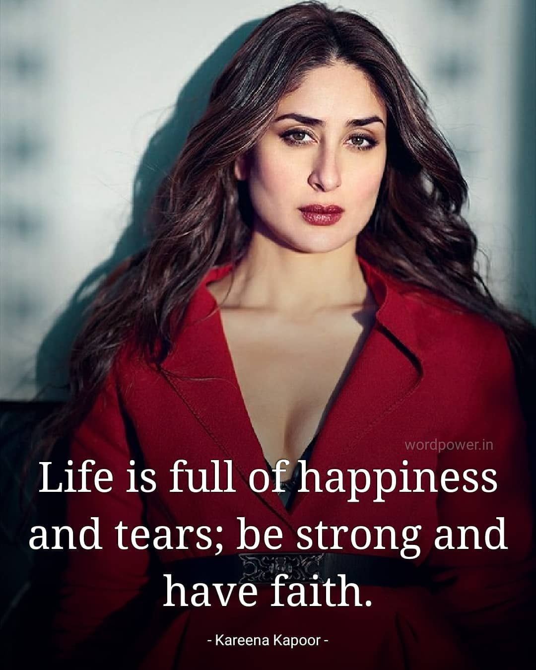 Life Is Full Of Happiness Tears Kareenakapoor Bymyquotes Successquotes Tears Quotes Best Quotes Motivatinal Quotes