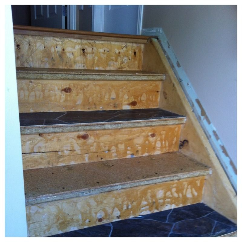 My Blog Chronicling The Transformation From Ugly Lino And Carpet Stairs To  Stained Brown Paper With