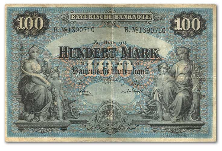 german money it s bavarian it s also huge you could fold