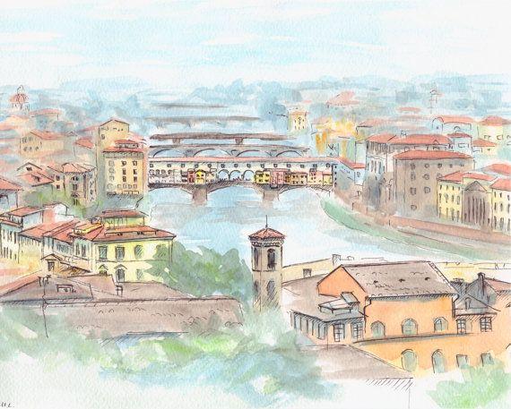 Risultati immagini per Ponte Vecchio illustration