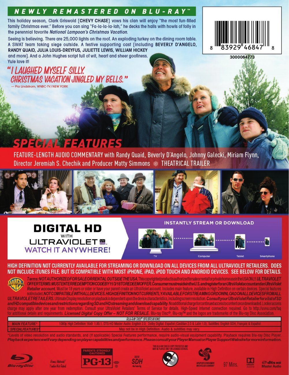 National Lampoon's Christmas Vacation Blu-ray: 25th
