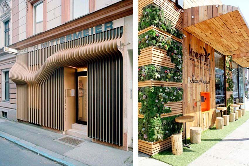 Fachadas naturales fachadas pinterest marcar la for Fachadas de restaurantes modernos