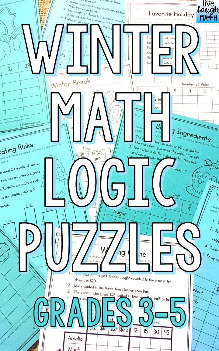 Winter Math Logic Puzzles {Critical Thinking Activities for Grades 3 ...