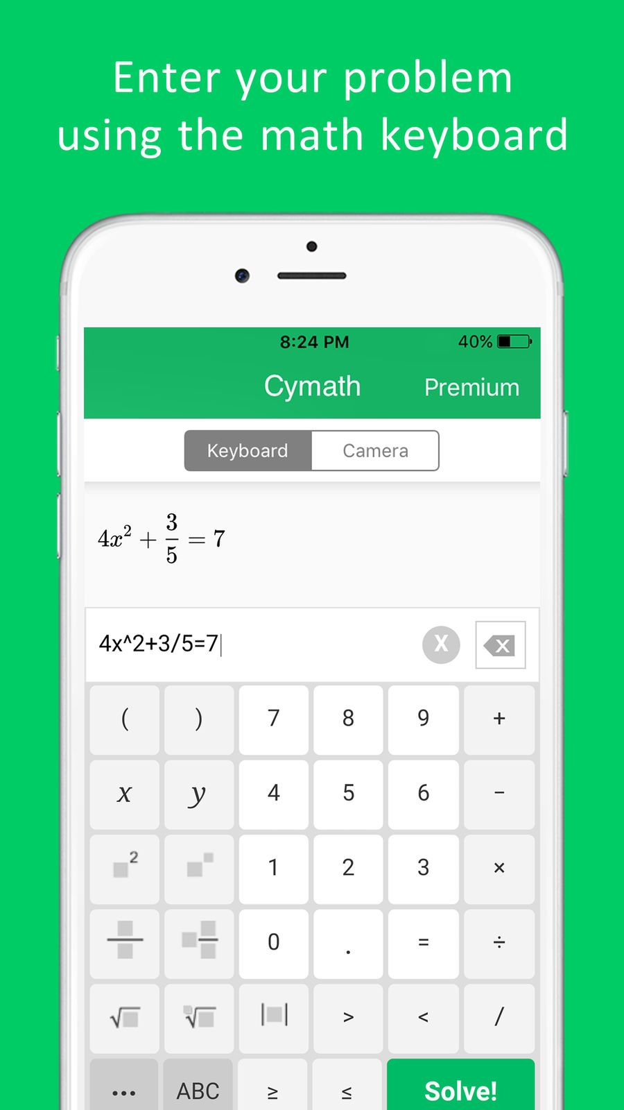 Cymath Math Problem Solver Education Llc Apps Ios Math Problem Solver Math Problems Math