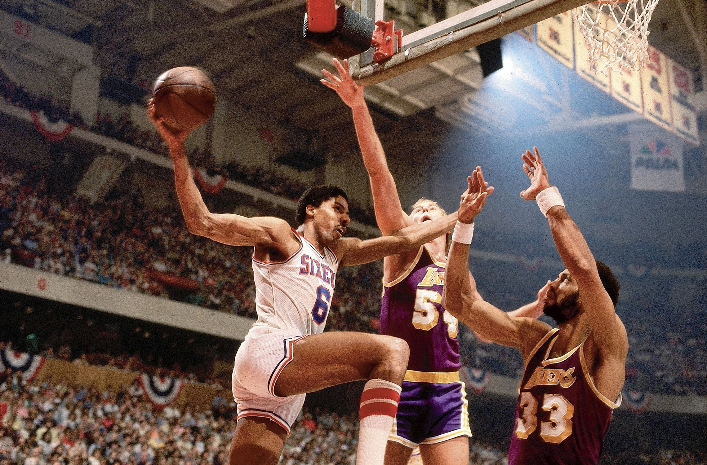 Image result for philadelphia 76ers 1980 in game