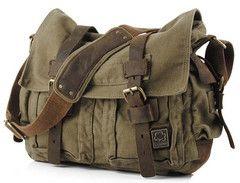 SO cute and versatile. Military Messenger Bag - Serbags.com