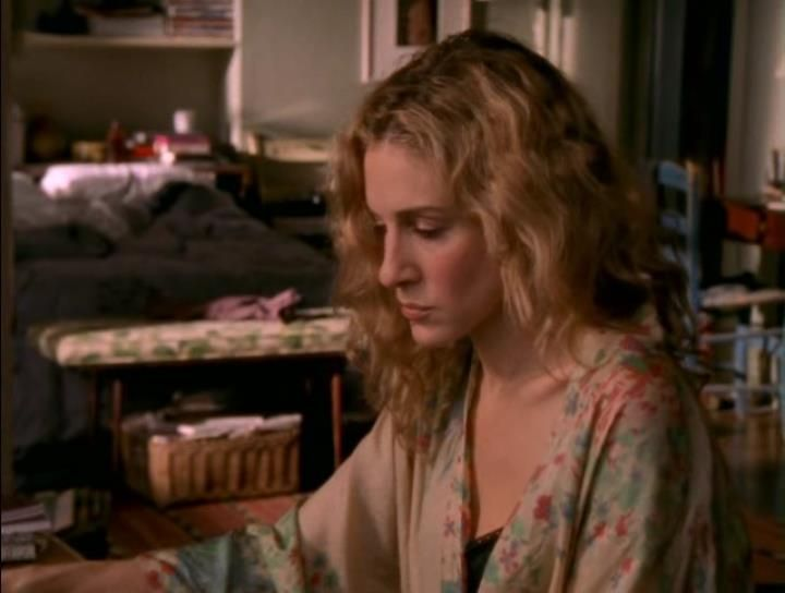 Carries Silk Kimono Dressing Gown Sex And The City Season 4 Episode 6 Baby, Talk Is Cheap -5906