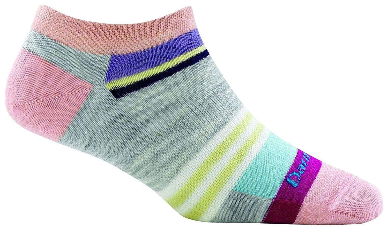 Darn tough modern stripe no show light socks womens