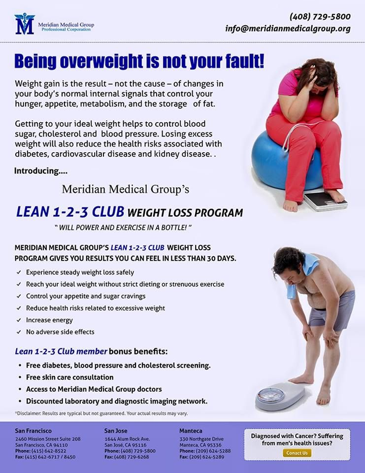 A healthier lifestyle means being fit. Let go the excess weight today.  Visit http://www.meridianmedicalgroup.org/ to know more about our weight loss programs.