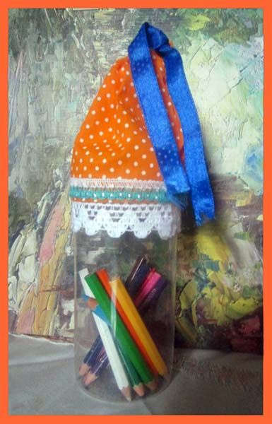 Best Out Of Waste Plastic Bottles Craft Pencil Container