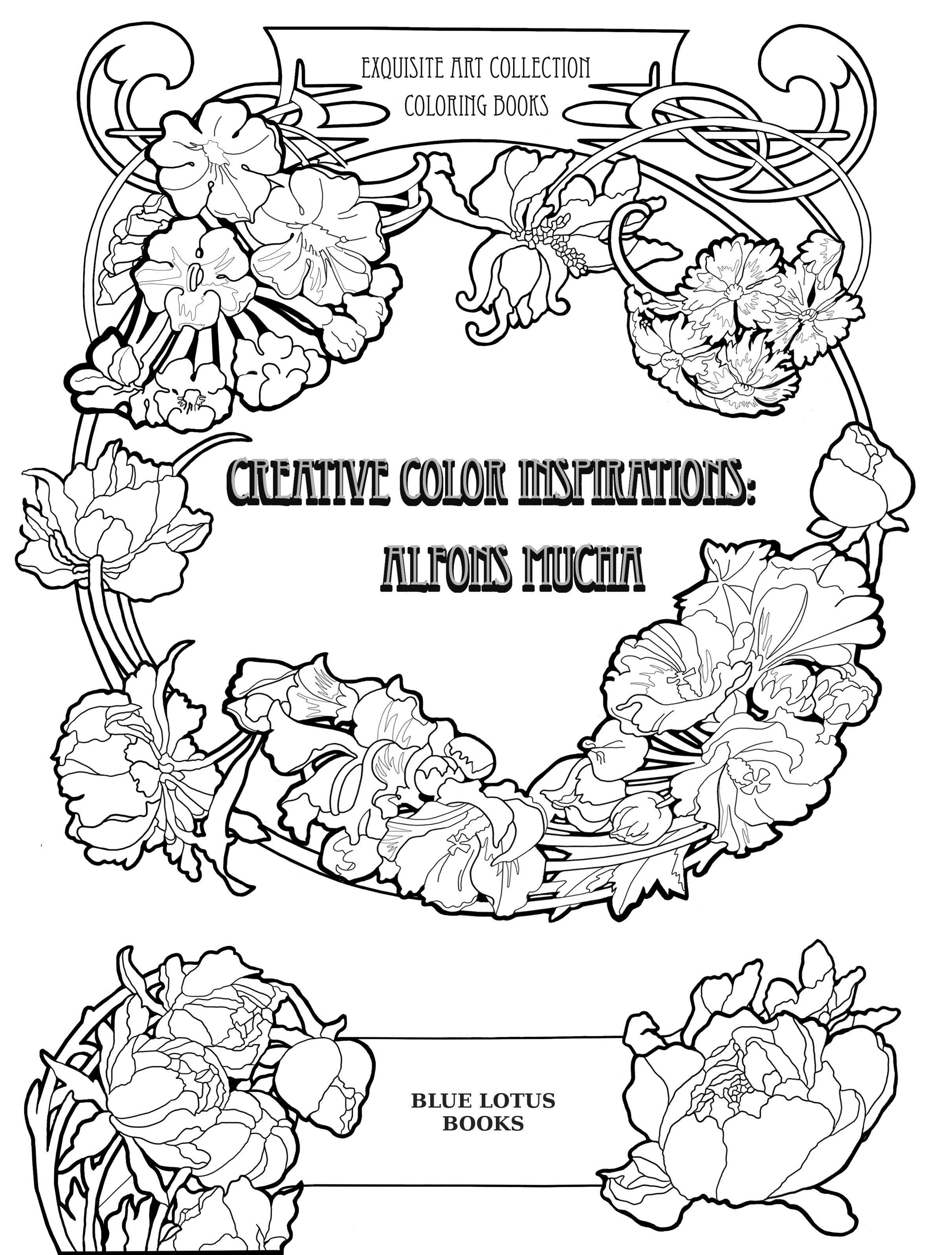 The Cover Of My New High End Colouringbook For Grown Ups