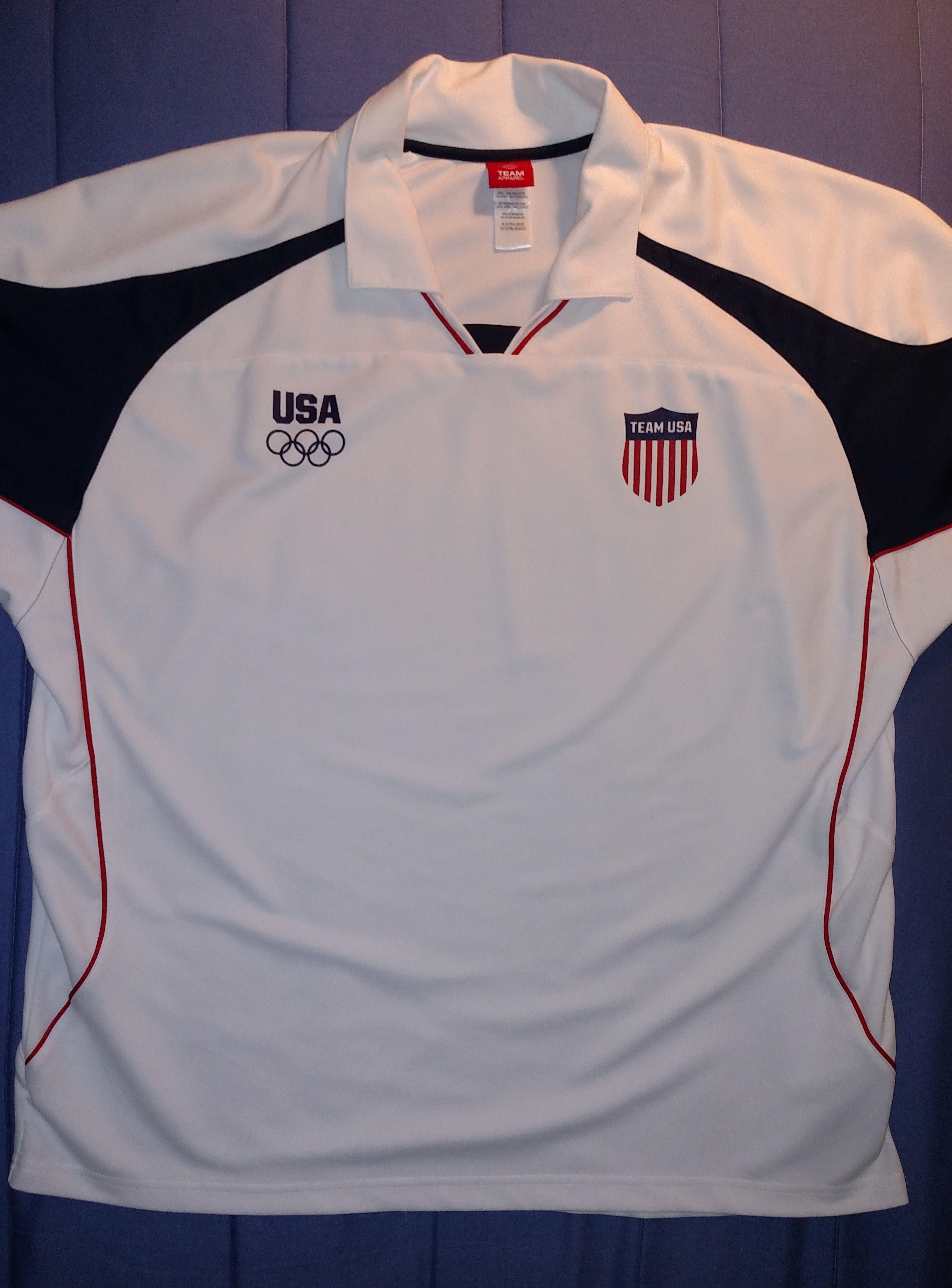 Team Usa Jersey Short Sleeve Shirt Olympic Committee Team