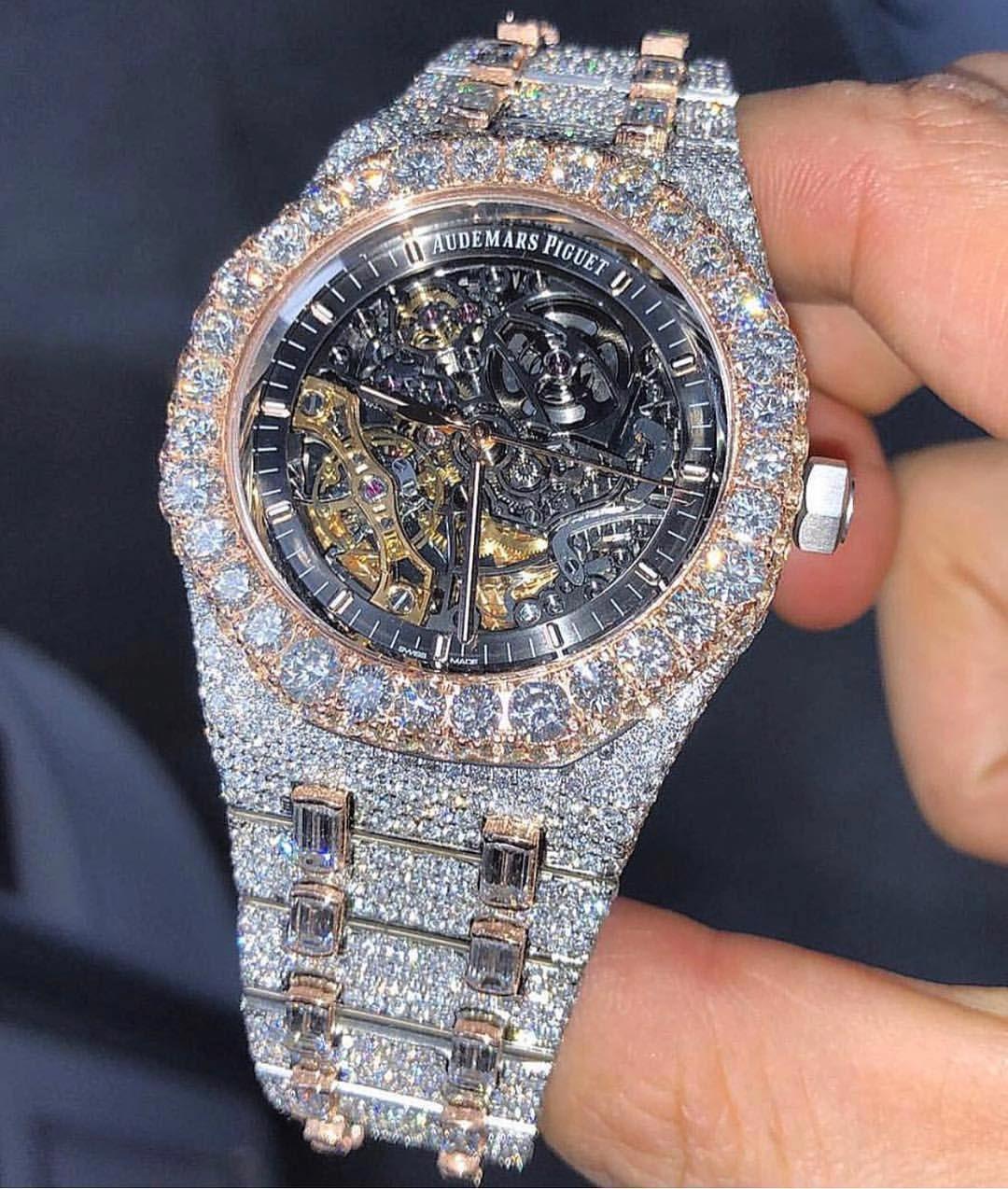Bustdown Ap Skelly Royal Oak Luxury Watches For Men