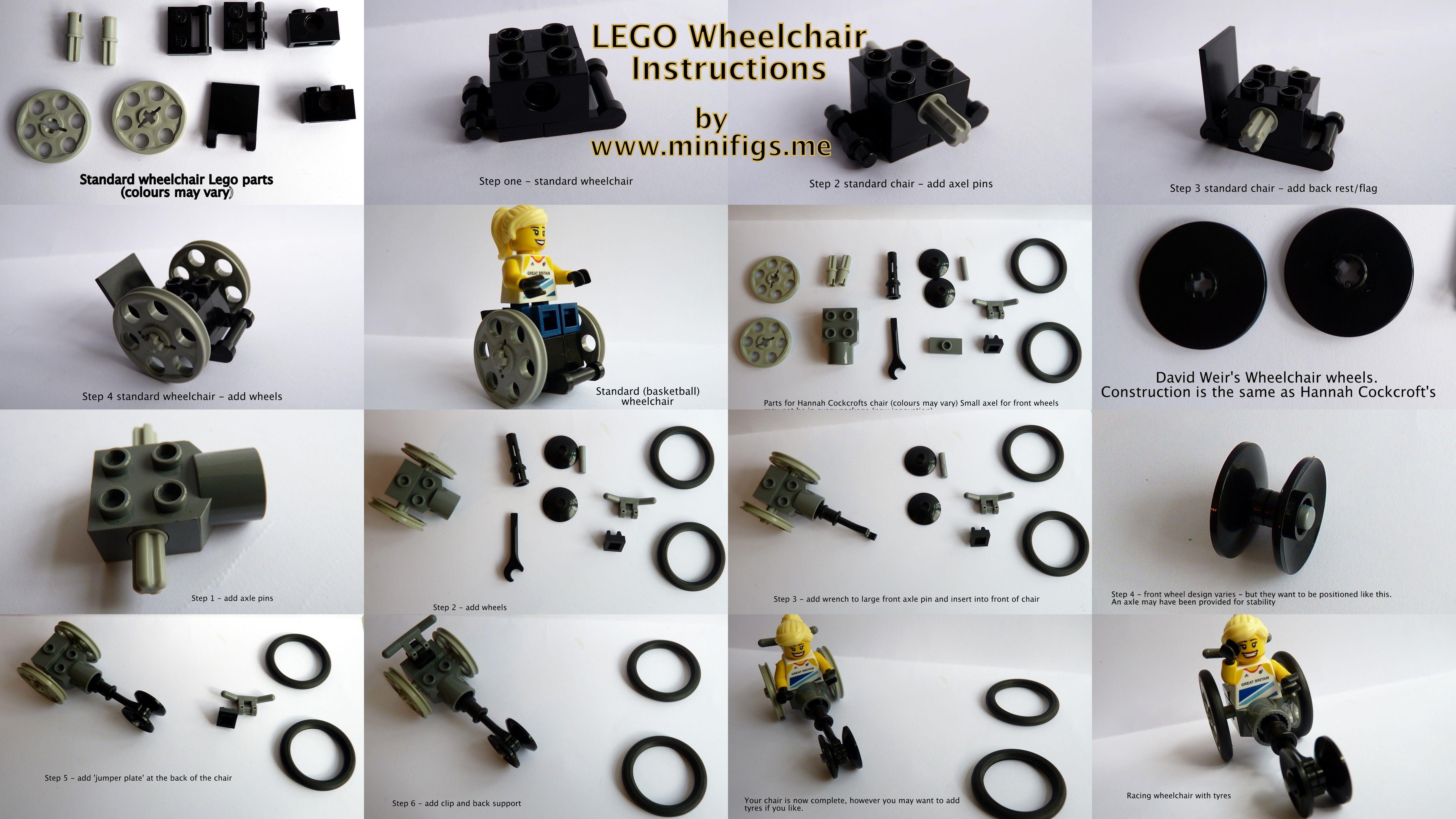 Minifigsme Lego Wheelchair Instructionsg 51202880 Lego Mini