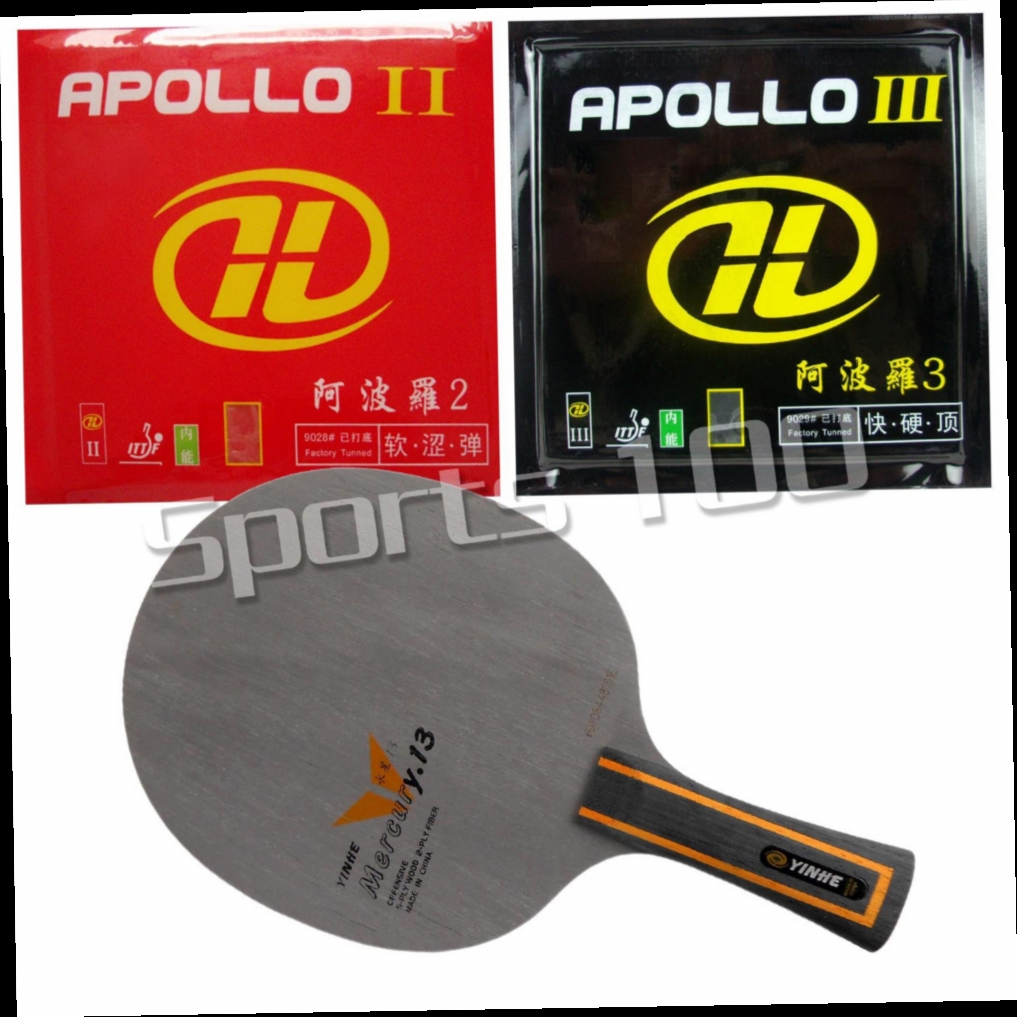 47.37$  Watch here - http://ali3z0.worldwells.pw/go.php?t=32759565750 - Pro Table Tennis Combo Paddle Racket Galaxy YINHE Mercury.13 Blade with Apollo II and Apollo III Rubbers 47.37$