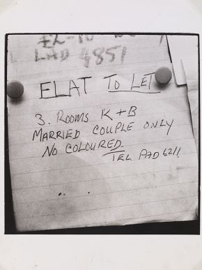 Charlie Phillips, 'Flat to Let', ca .1959. Museum no. E.259-2011. © Charlie Phillips/ Victoria and Albert Museum, London. Supported by the National Lottery through the Heritage Lottery Fund.