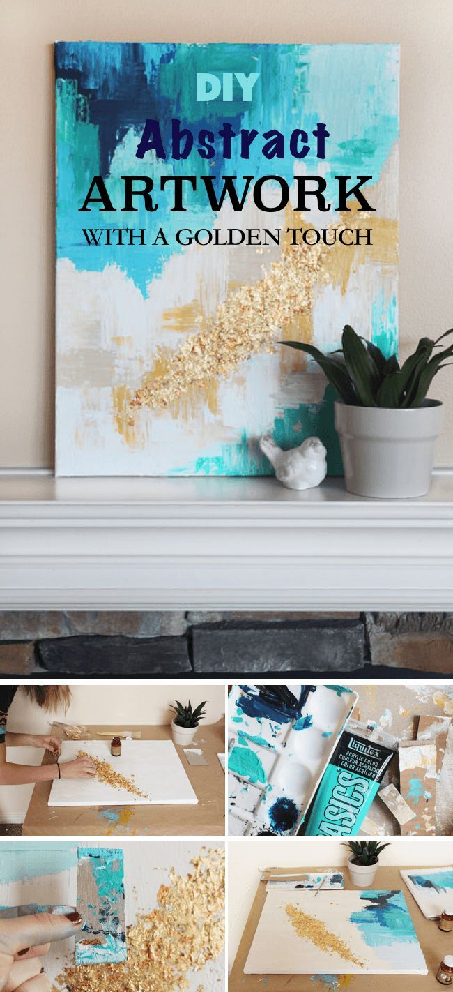 simple diy wall art ideas for your home abstract artwork