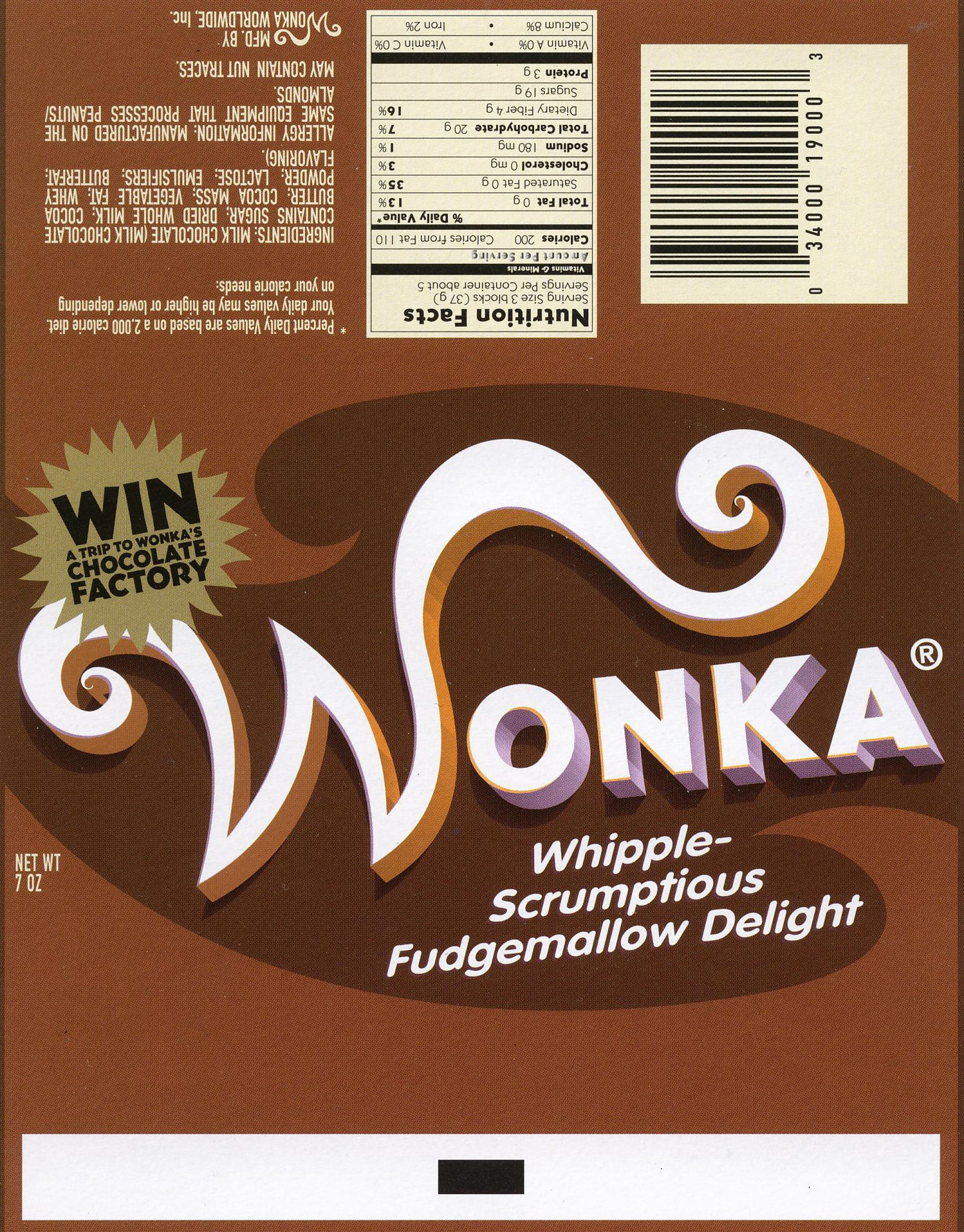 Wonka Bar Wonka Chocolate Chocolate Chocolate Bar Wrappers