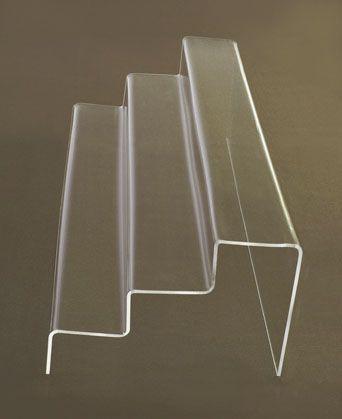 Display Risers   Plastic Stair Step SHelf Display   Plastic Display  Platformsu2026