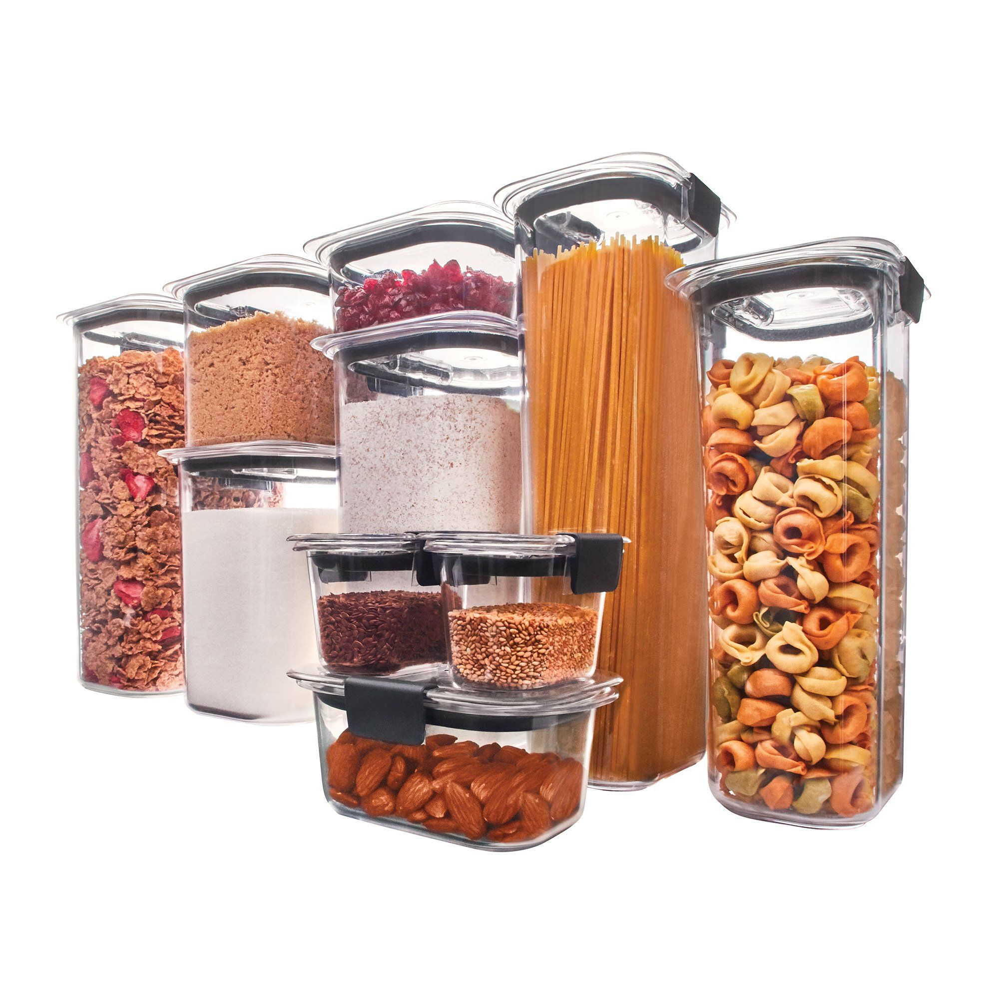 Rubbermaid Brilliance Food Storage Container Set 22 Piece Clear Prepossessing Rubbermaid Brilliance Pantry Airtight Food Storage Container Bpa Decorating Inspiration
