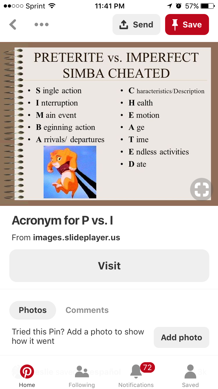 Pin By Amy Perkins On Preterite Preterite Im Not Perfect Activities [ 1334 x 750 Pixel ]