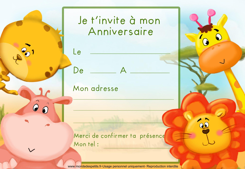 carte d anniversaire enfant carte d invitation anniversaire enfant