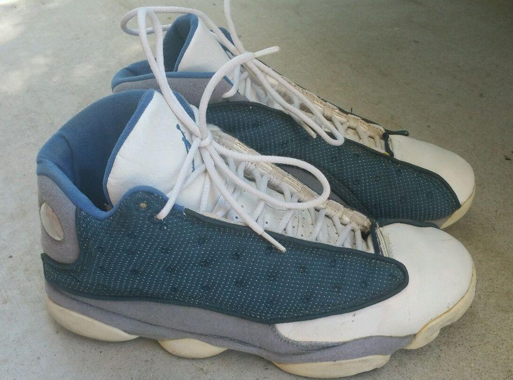 8f4ae7f53a2 1998 OG Nike Air Jordan 13 XIII Navy Carolina Blue Flint Gray Sz 10 136002- 441  Nike  BasketballShoes