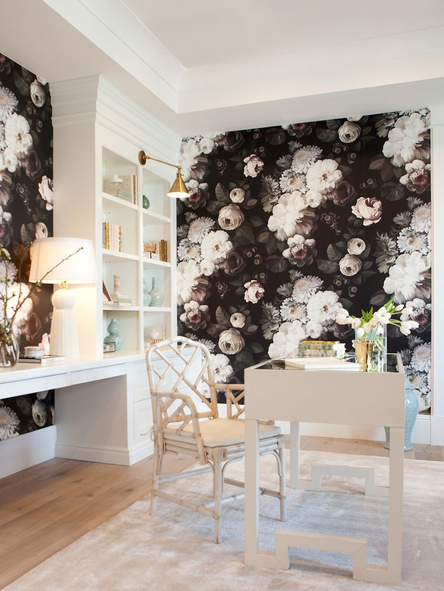 44 Best Dark Floral Wall Covering Images Floral Wall Decor
