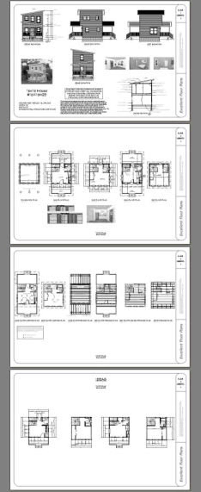 16x16 House 1-Bedroom 1.5-Bath 465 sq ft PDF Floor   Etsy