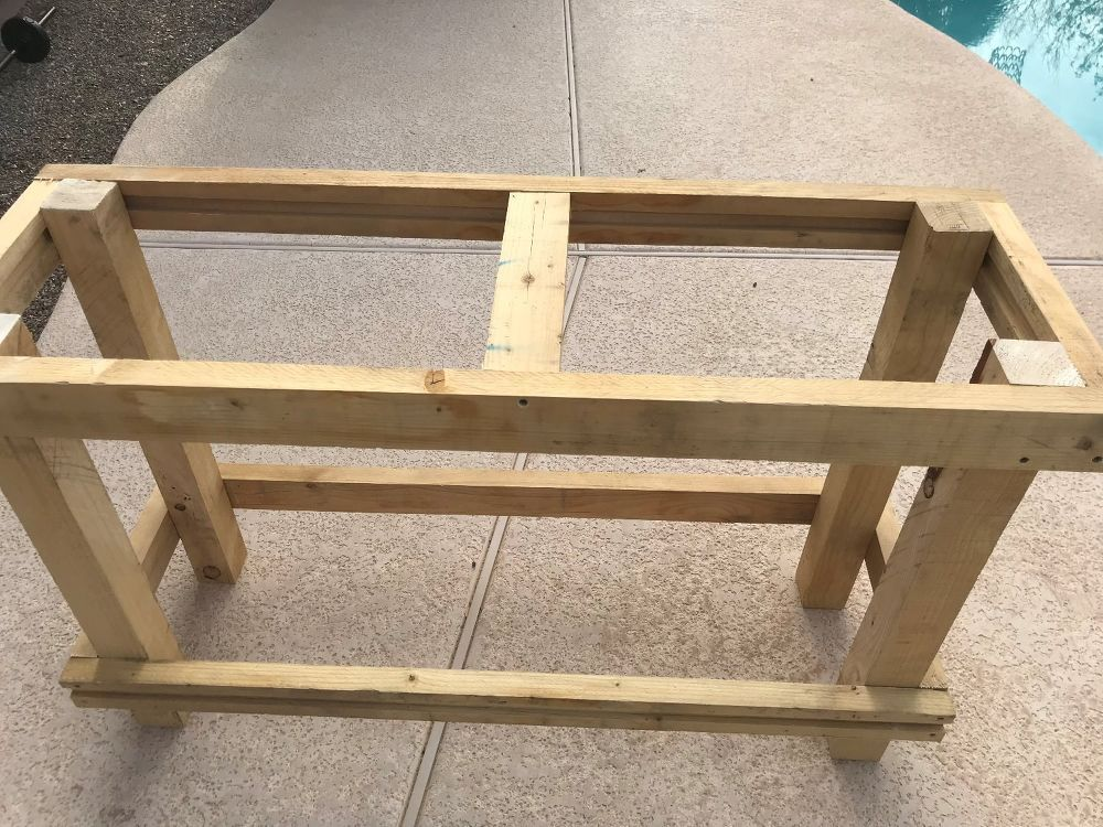 Farmhouse Entry Table Rustic entry table, Build a