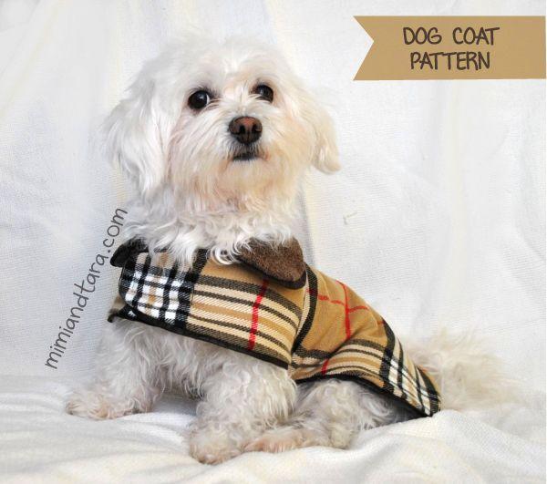 dog-coat-pattern   Roupa para cachorro   Pinterest   Cintas de raso ...
