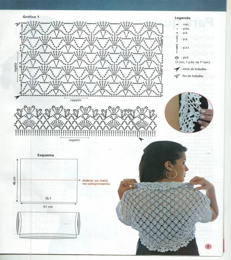 TEJIDOS CROCHET: más boleros crochet | crochet | Pinterest | Boleros ...